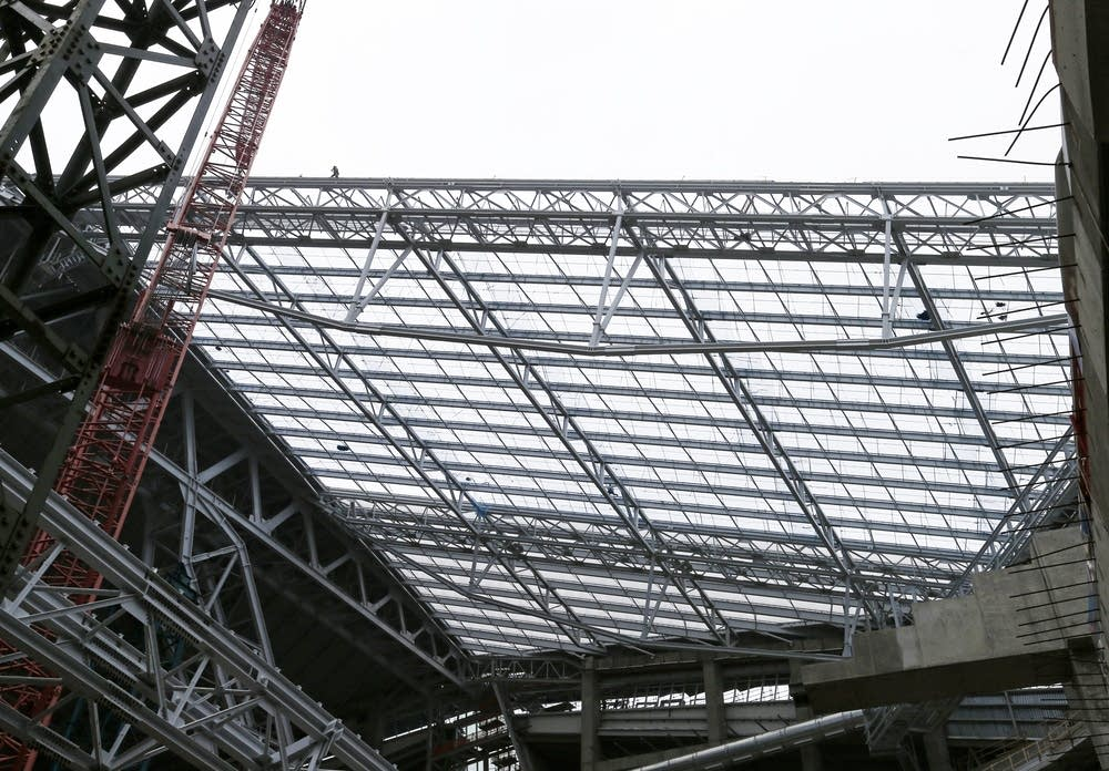 Innovative Roof Makes Minnesota Vikings Stadium Lighten Up Minnesota Public Radio News