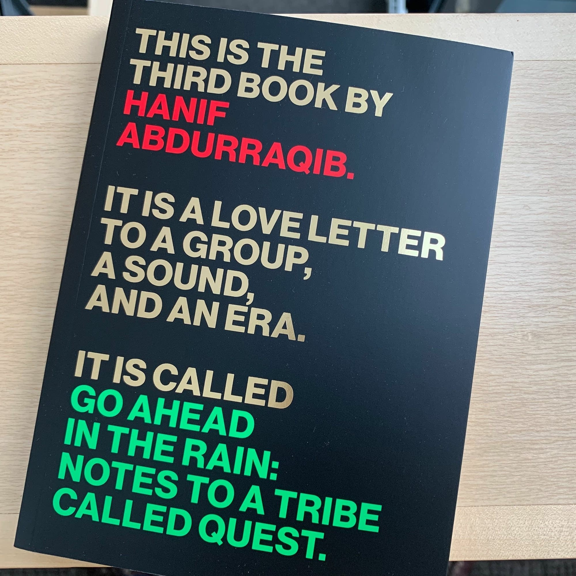 Hanif Abdurraqib's 'Go Ahead in the Rain.'