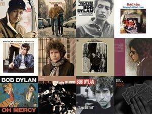 Some of Bob Dylan's album covers