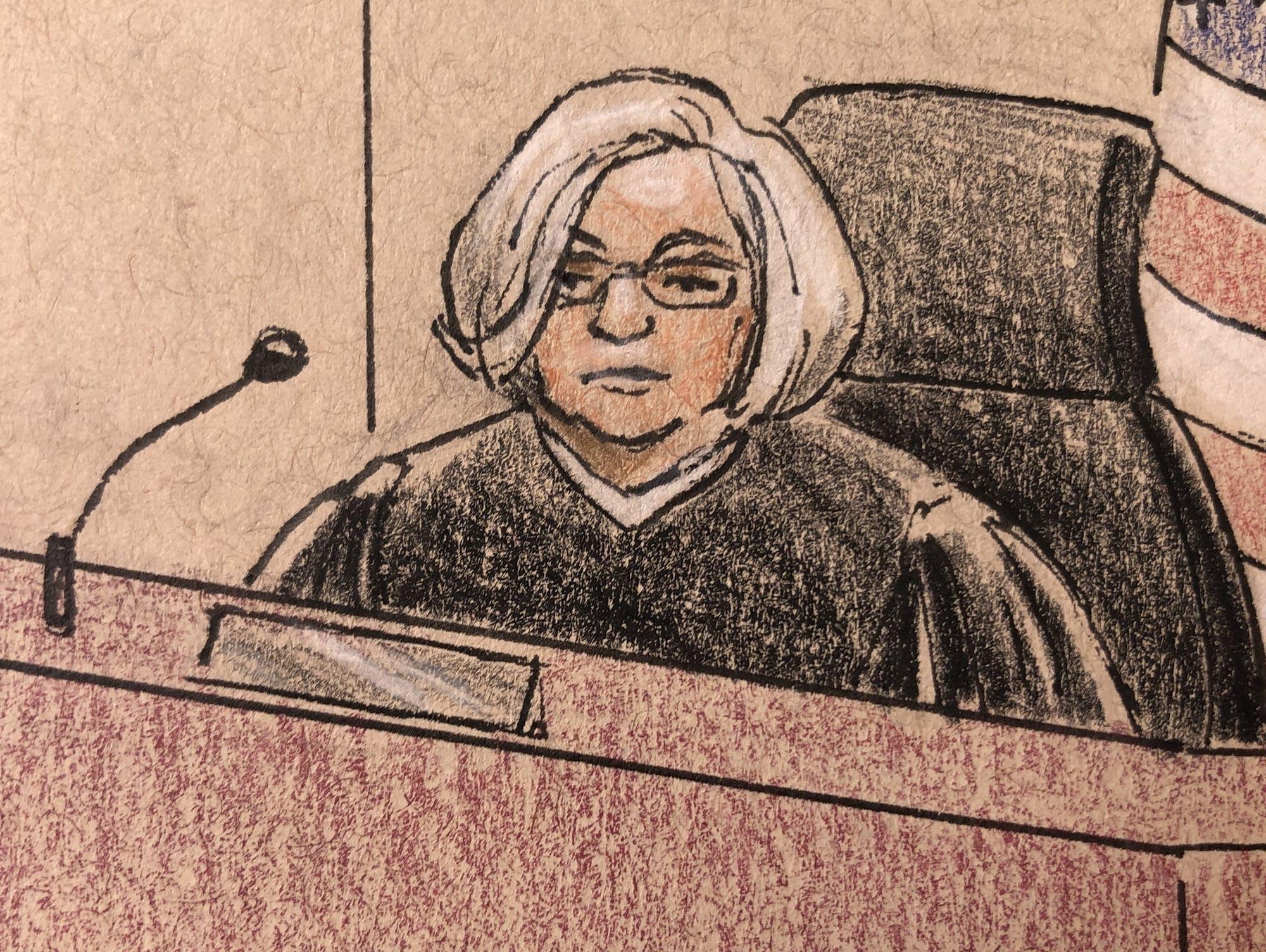 Judge Quaintance during Noor's trial on April 26.