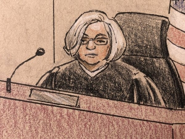 Judge Quaintance during Noor's trial on April 26, 2019.