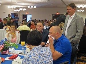 State Rep. Matt Dean chats with Minn. delegates.