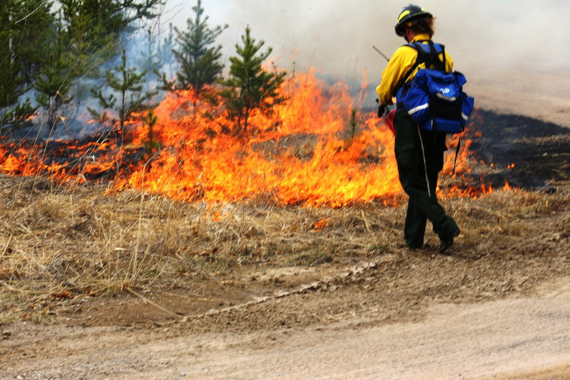 Red Flag Warning issued for county; open burning discouraged until Tuesday evening