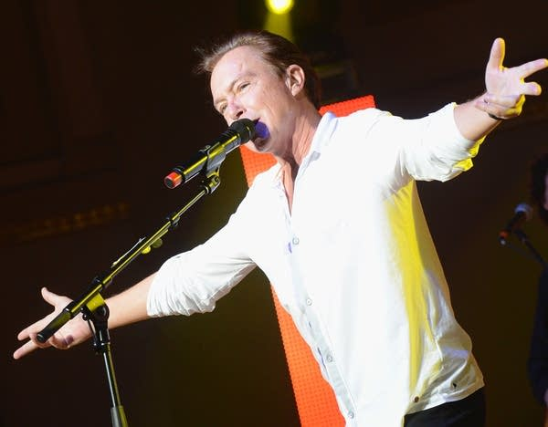 David Cassidy performs during the Paradise Artists Party