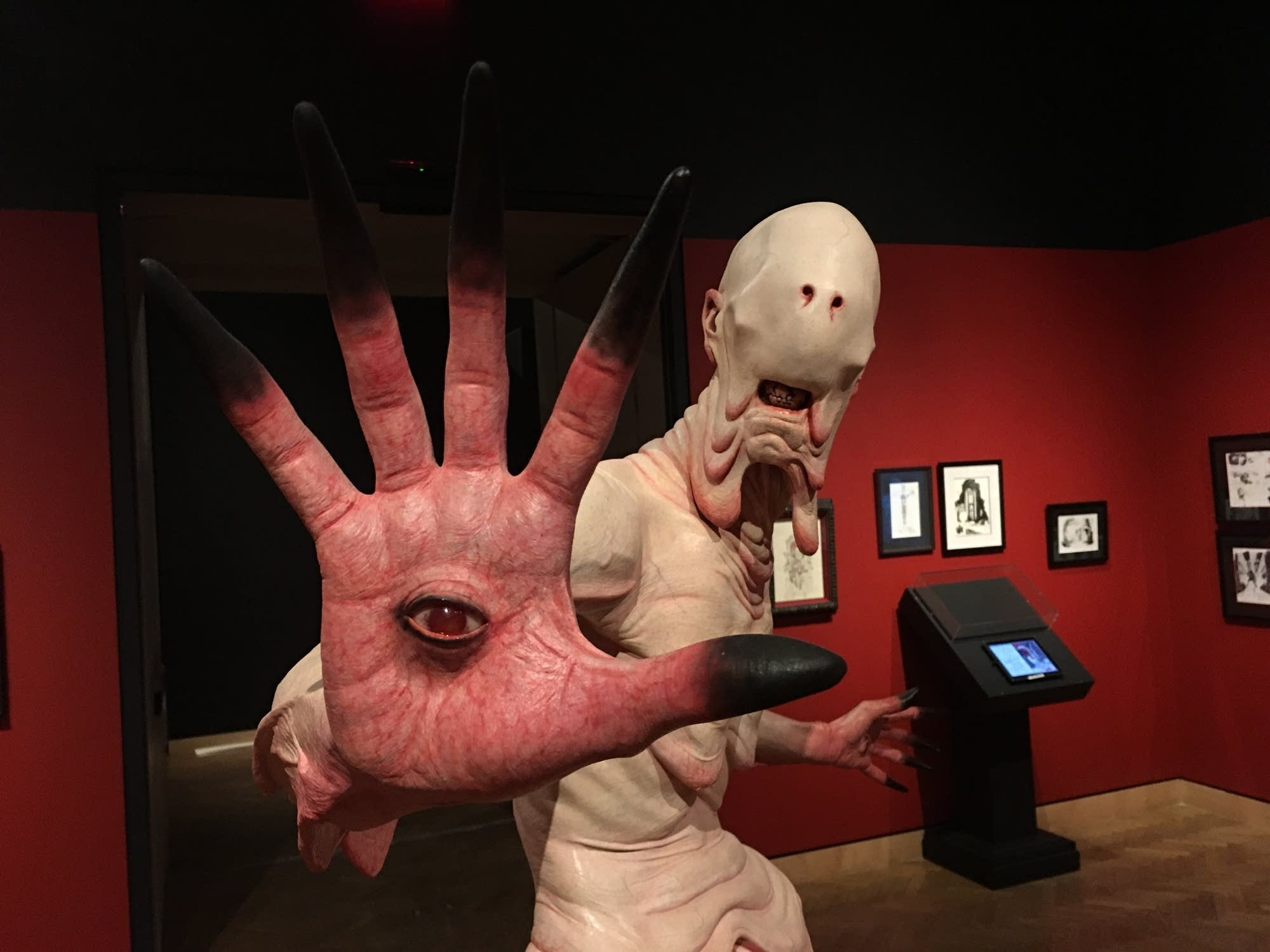 A model of the Pale Man from 'Pan's Labyrinth'