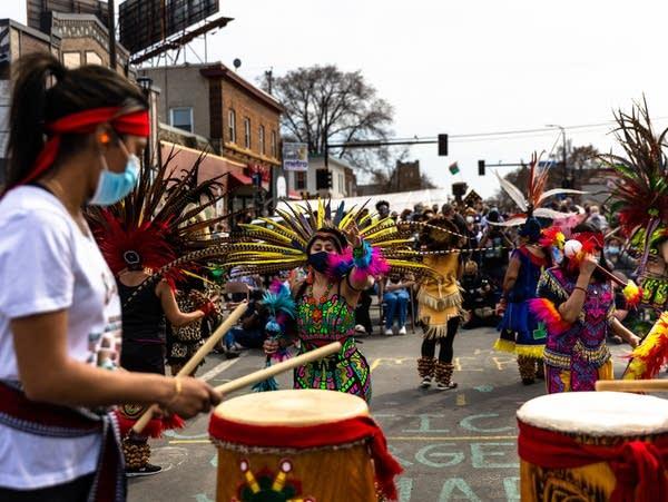 Dancers perform at a festival