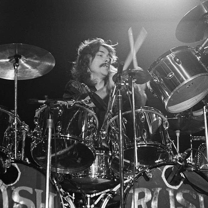 Drummer Neil Peart of Rush in 1976.