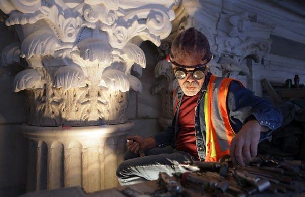 Master stone carver