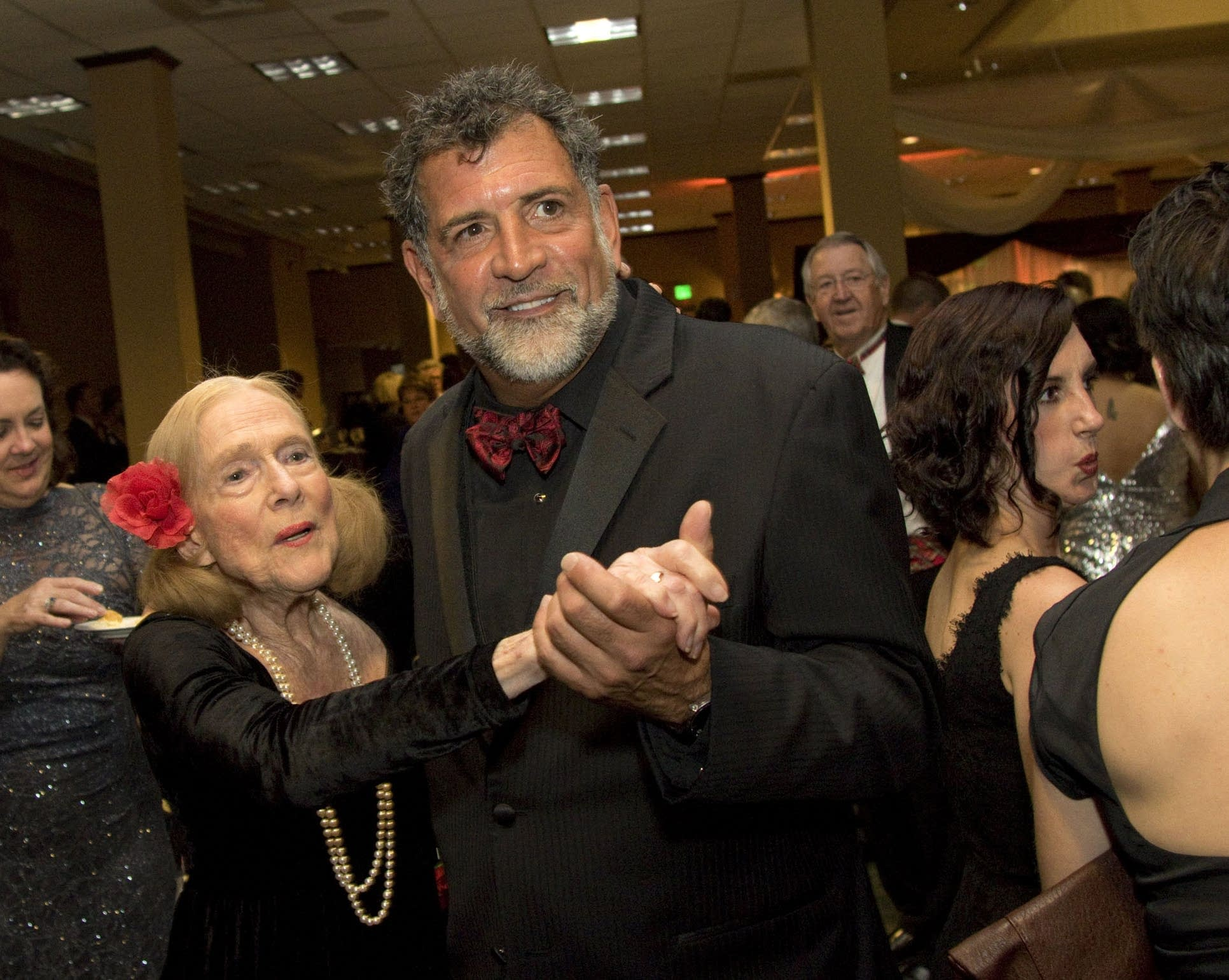 Gregory Stavrou danced with long-time theater patron Jean Dain Waters.
