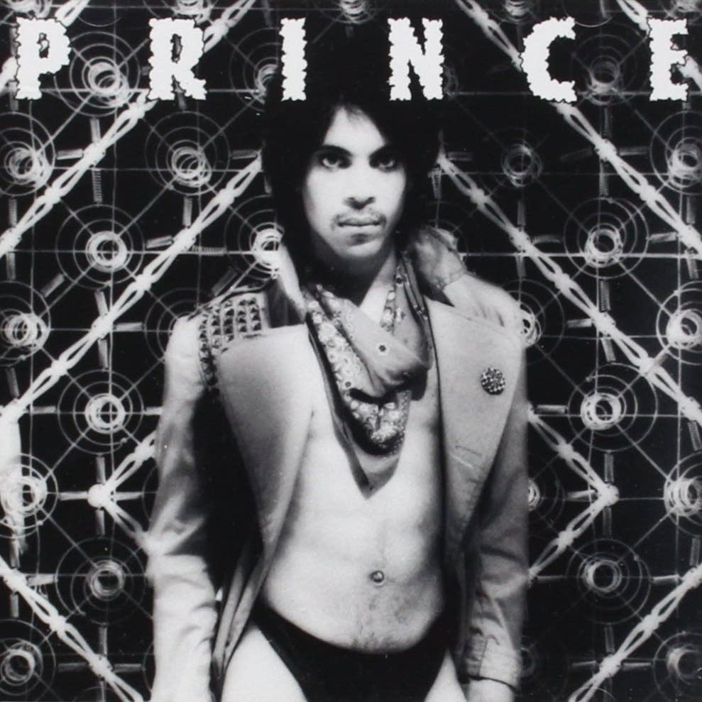 Prince on the cover of 'Dirty Mind'