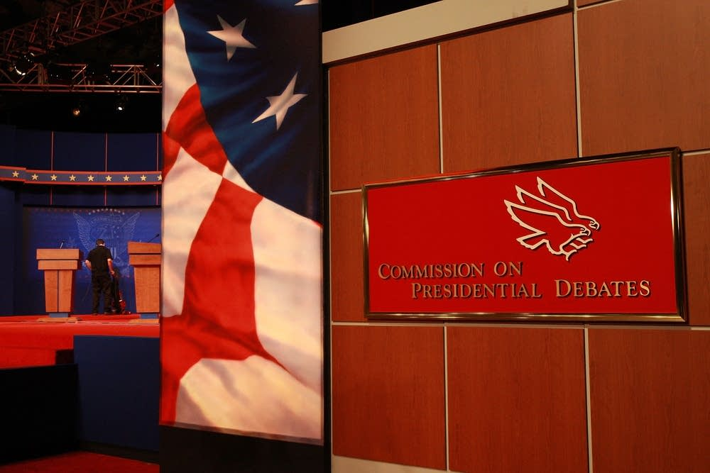 The stage for the vice-presidential debate