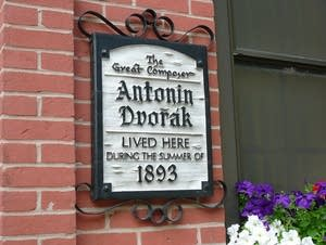 Dvorak plaque in Iowa