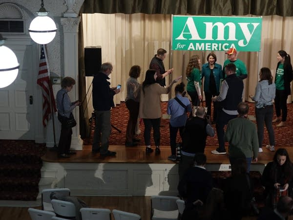 Democratic presidential candidate Sen. Amy Klobuchar