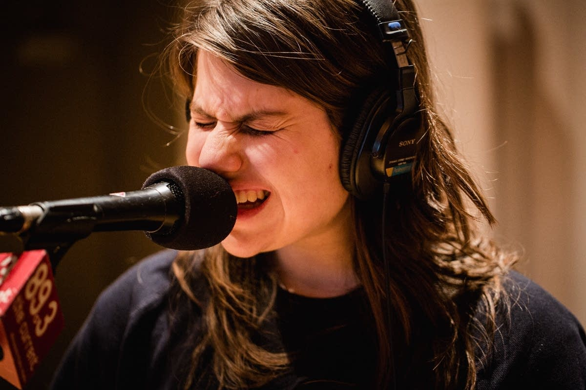 Alex Lahey performs in The Current studio