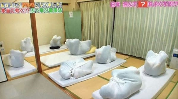 Adult wrapping, as seen on Japanese TV
