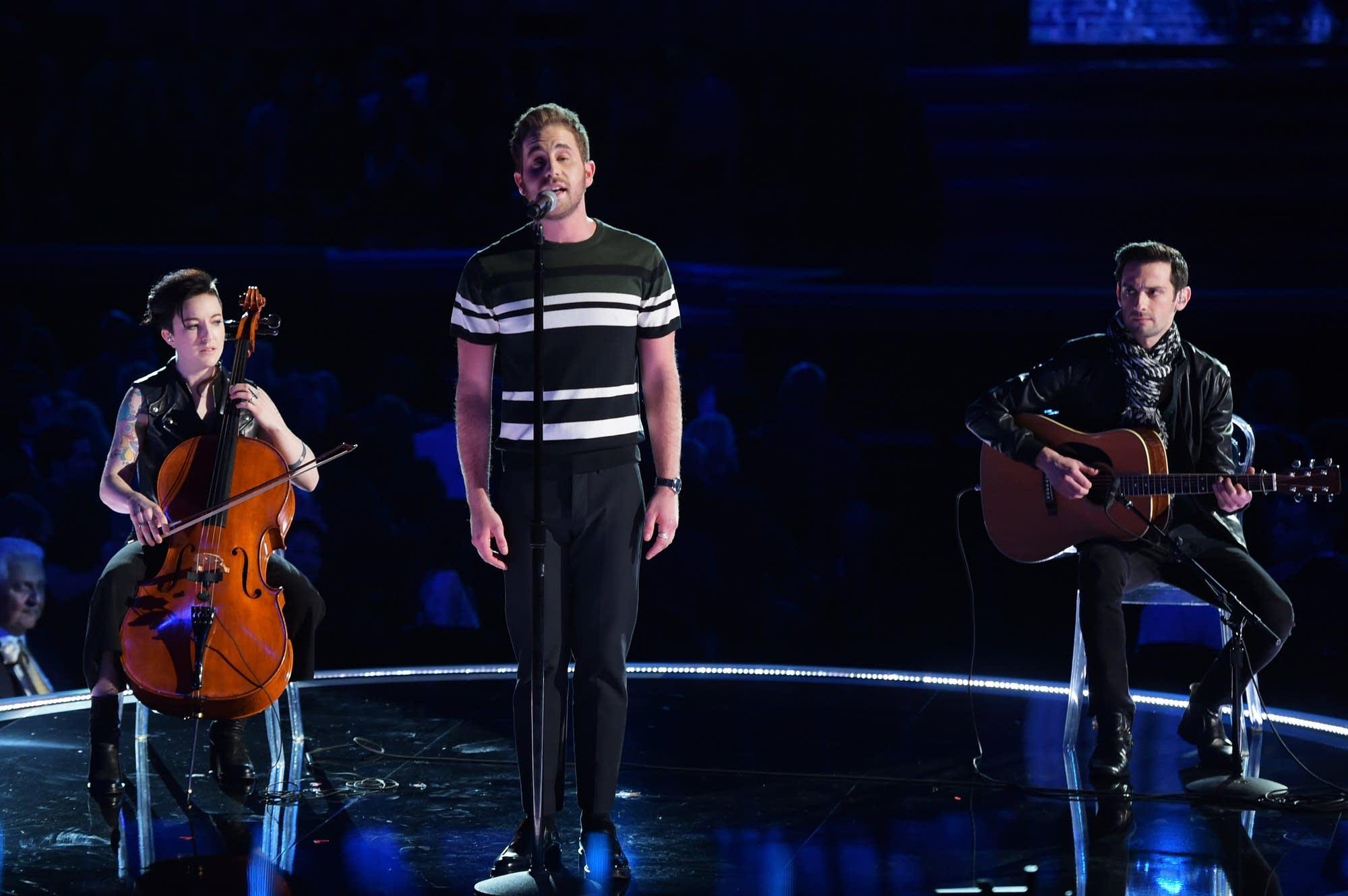 Ben Platt performing in New York in 2018