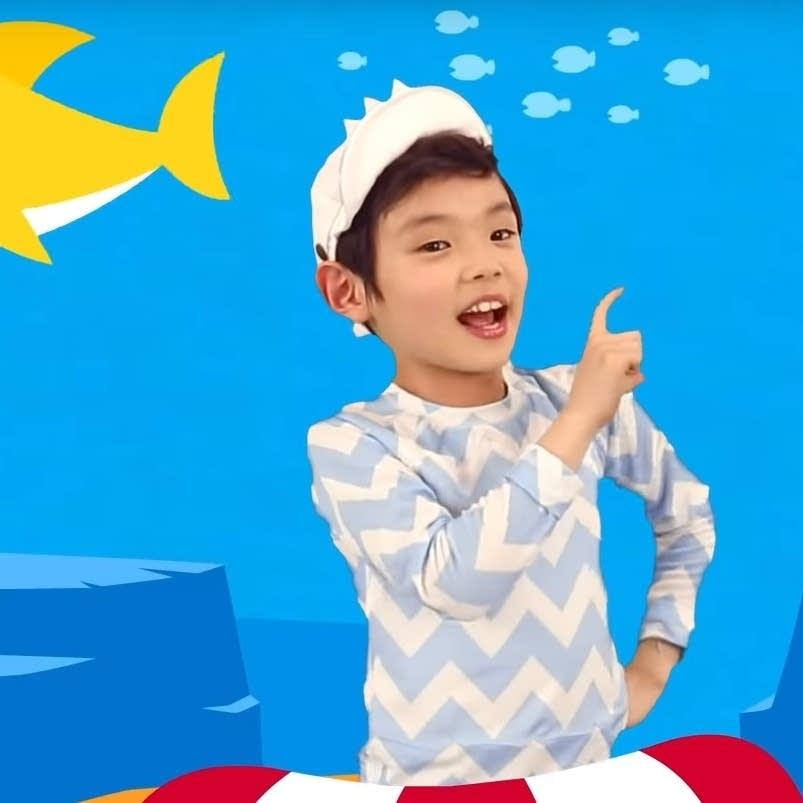 A still from the 'Baby Shark Dance' video.
