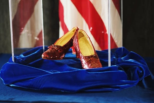 Law enforcement officials recovered the stolen ruby slippers.