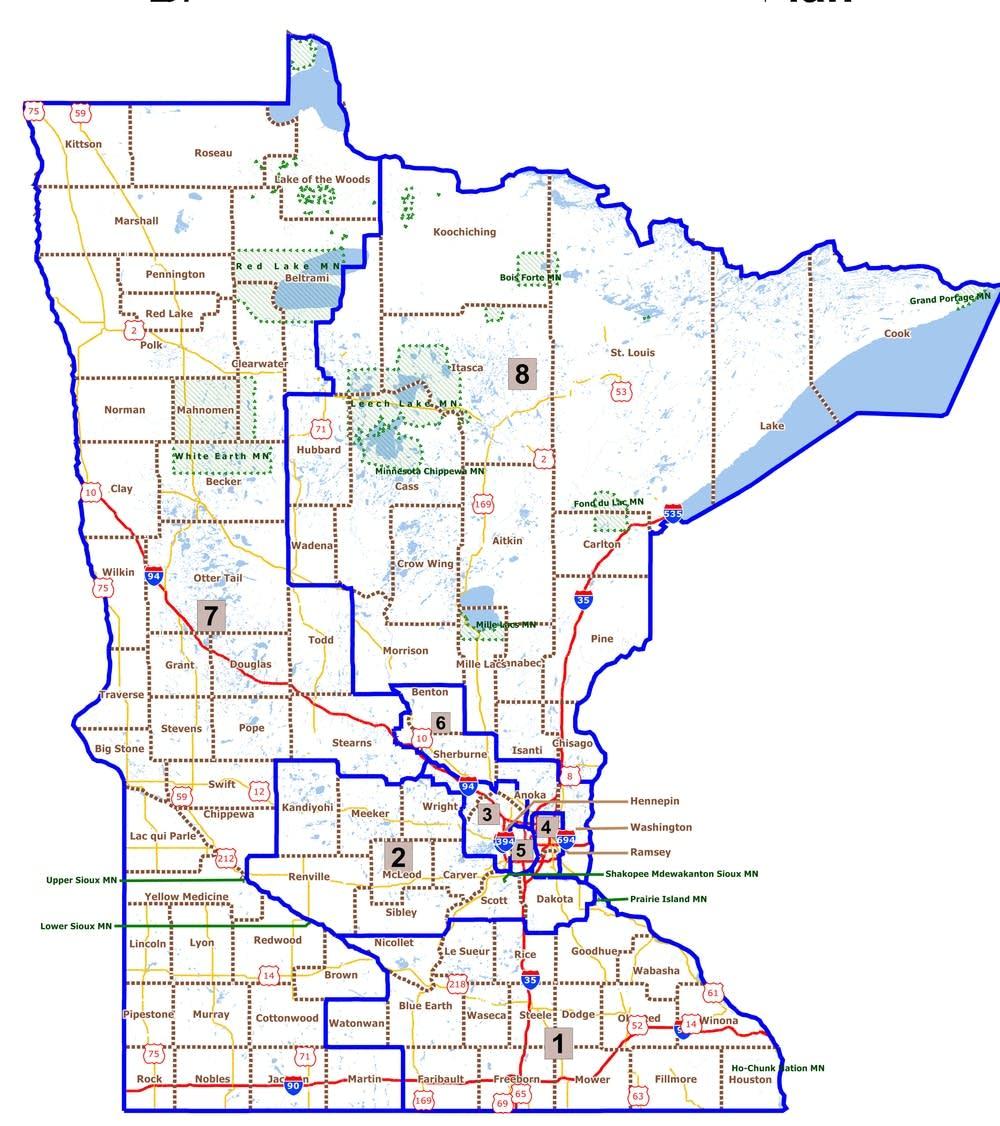 Proposed redistricting map