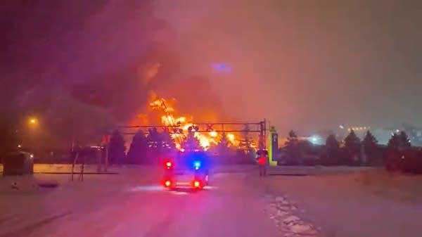 St. Paul firefighters battled a large fire