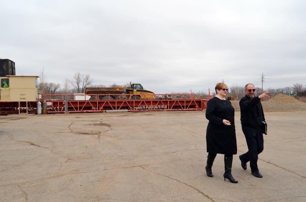 Heather Worthington and Greg Mack toured the area.