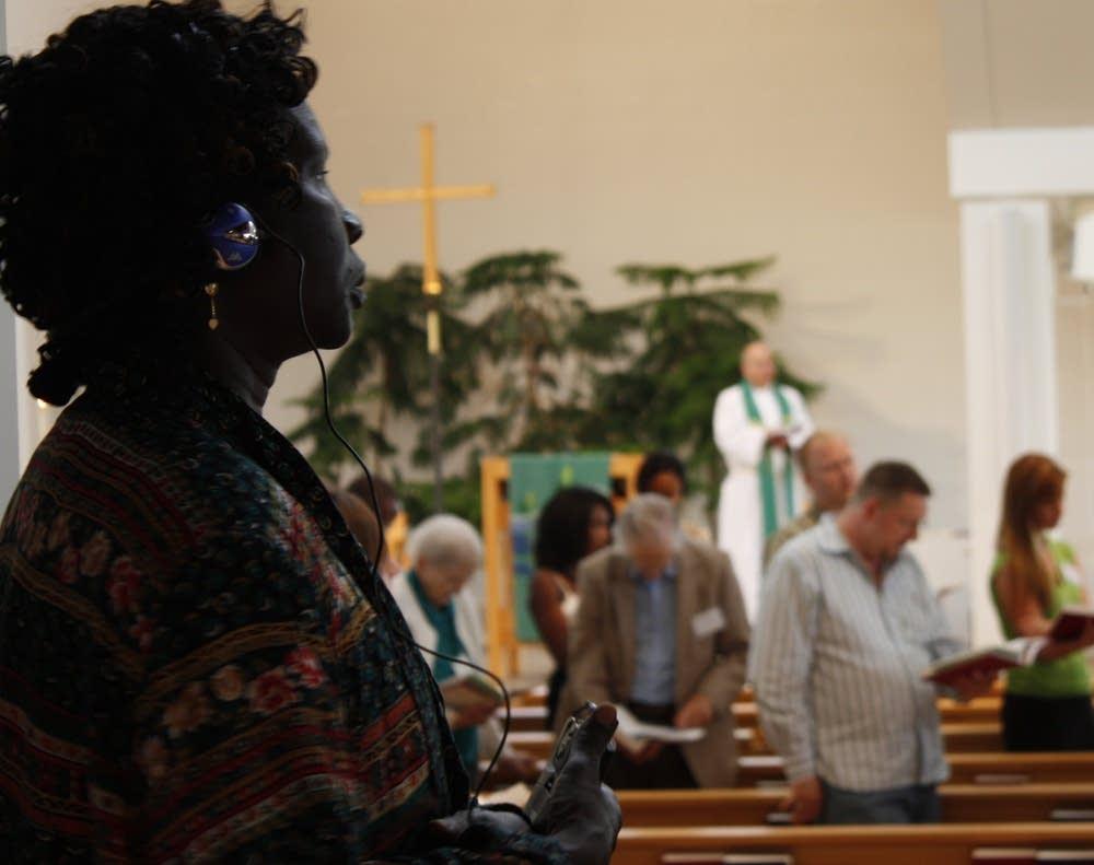 Sudanese worshiper