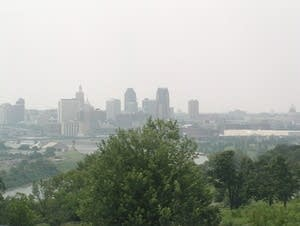 A hazy day in St. Paul in July 2011.