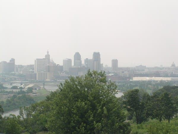 A hazy day in St. Paul in July 2011.