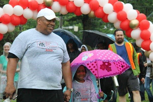 James and Teresa Burroughs at the 5k awareness walk.