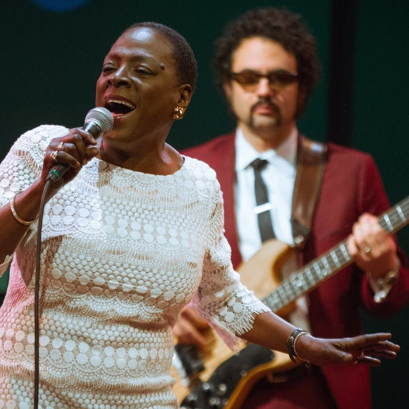 Sharon Jones performs at World Cafe Live
