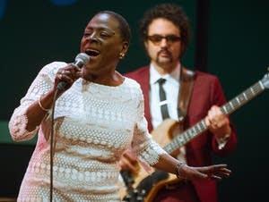 Sharon Jones performs at World Cafe Live