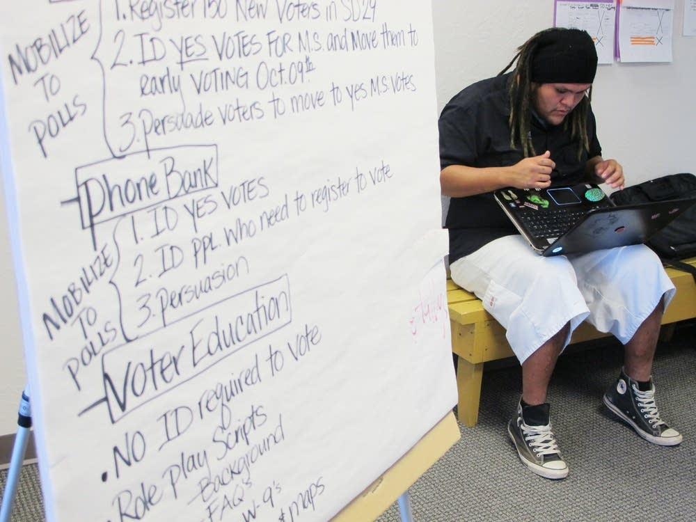 Native American Voters Alliance volunteer