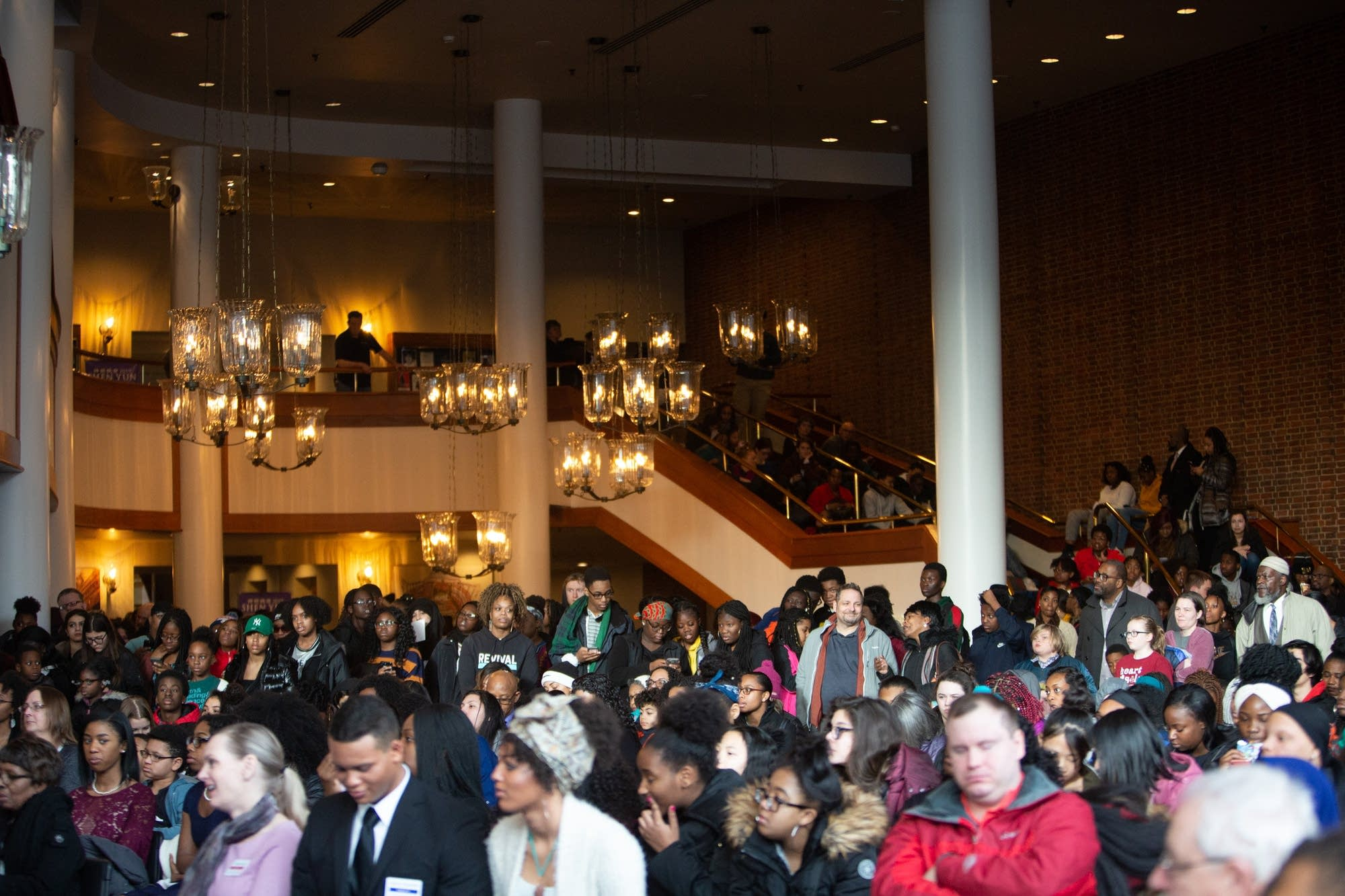 More than a hundred people attended the MLK Day Celebration youth rally.