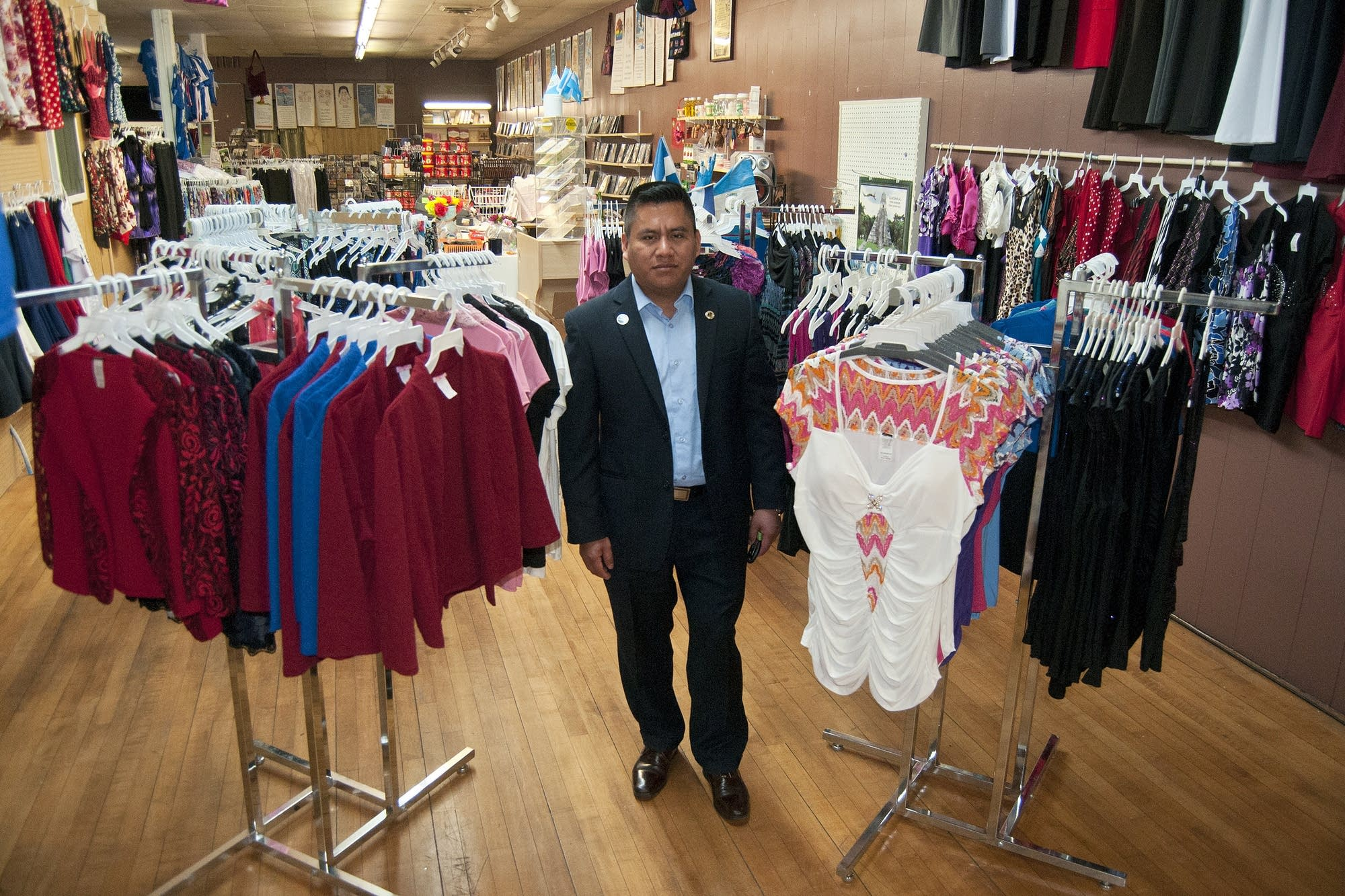 Edgar Mendez inside his store