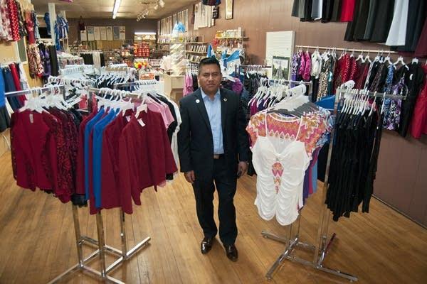 Edgar Mendez inside his store