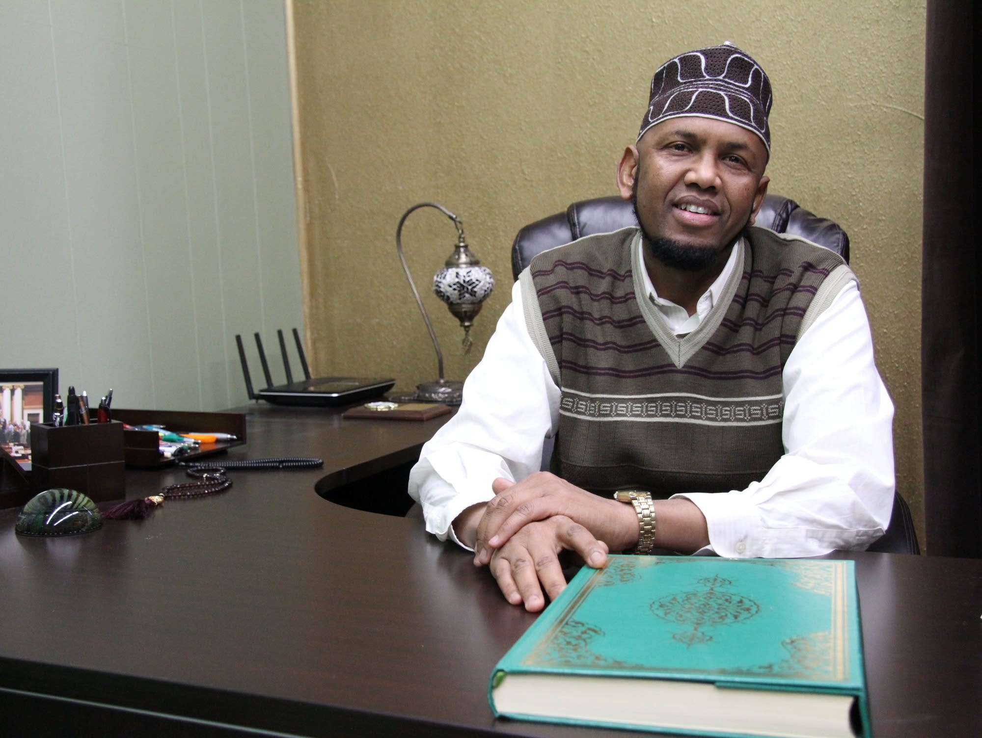 Sharif Mohamed is the imam of Dar Al Hijrah mosque in Minneapolis.