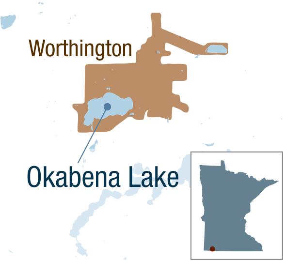 Okabena Lake in Worthington