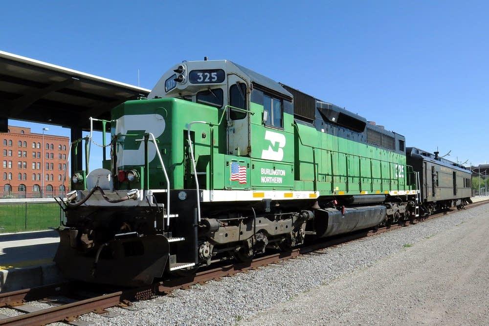 A Burlington Northern locomotive