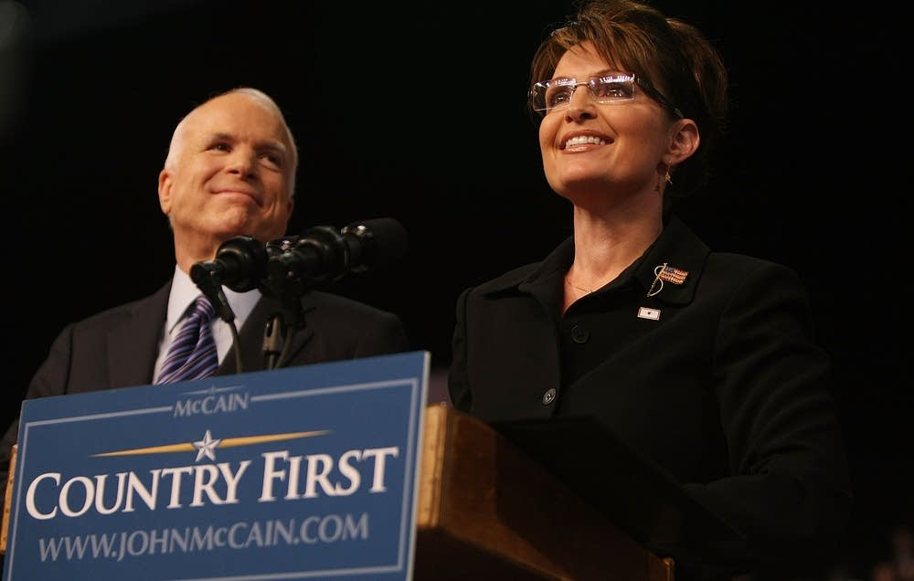 John McCain with running mate Gov. Sarah Palin