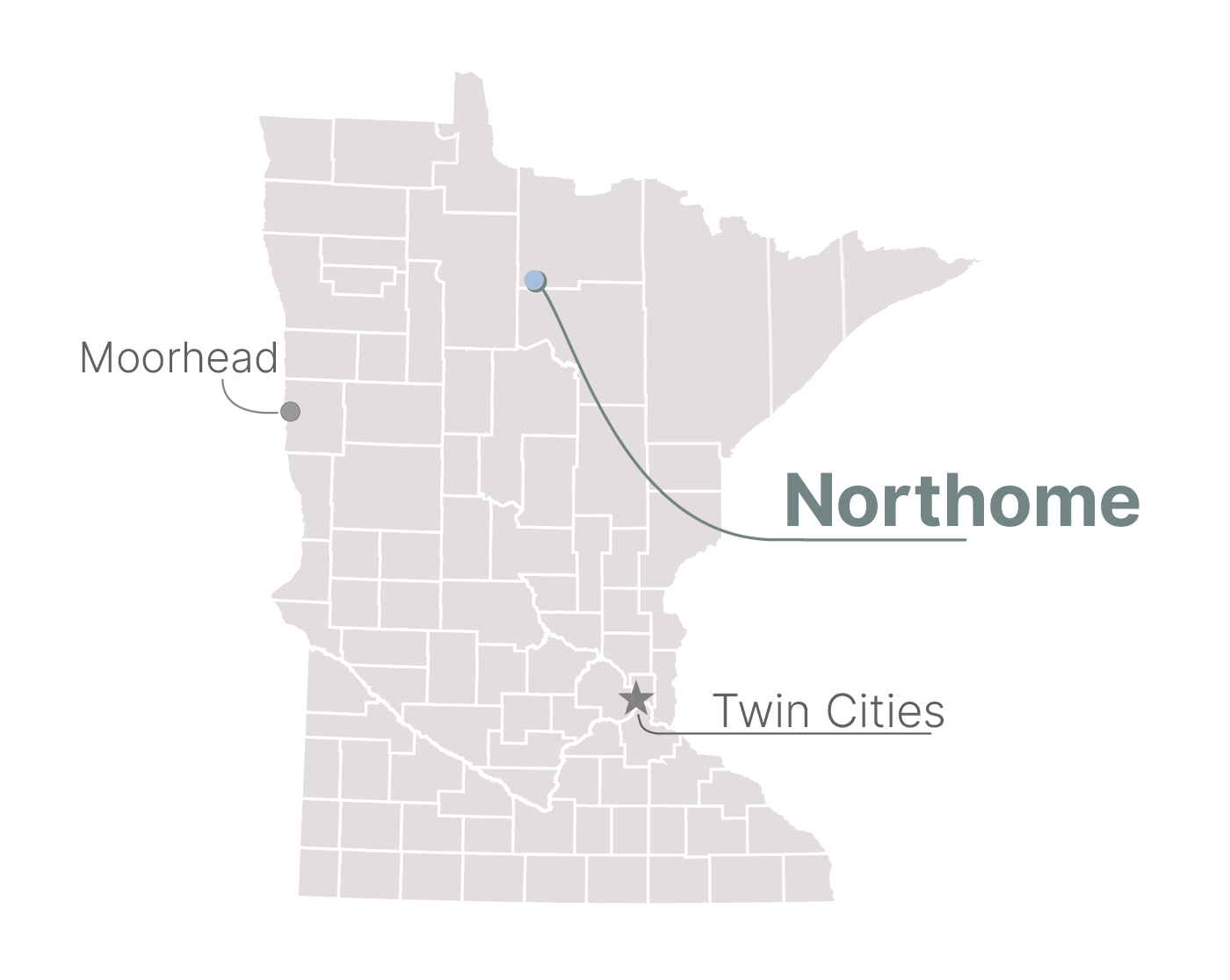 The city of Northome, Minn.