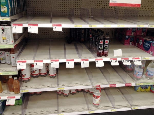 Shoppers complain that shelves are out of stock.