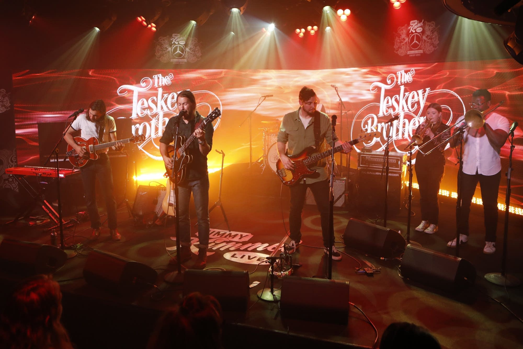The Teskey Brothers performing on 'Jimmy Kimmel Live!'
