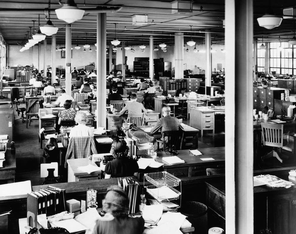 An American office in the 1940s.
