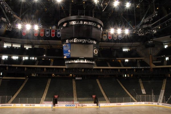 Xcel Energy Center Scoreboard