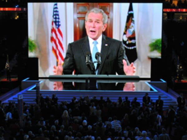 President Bush by video