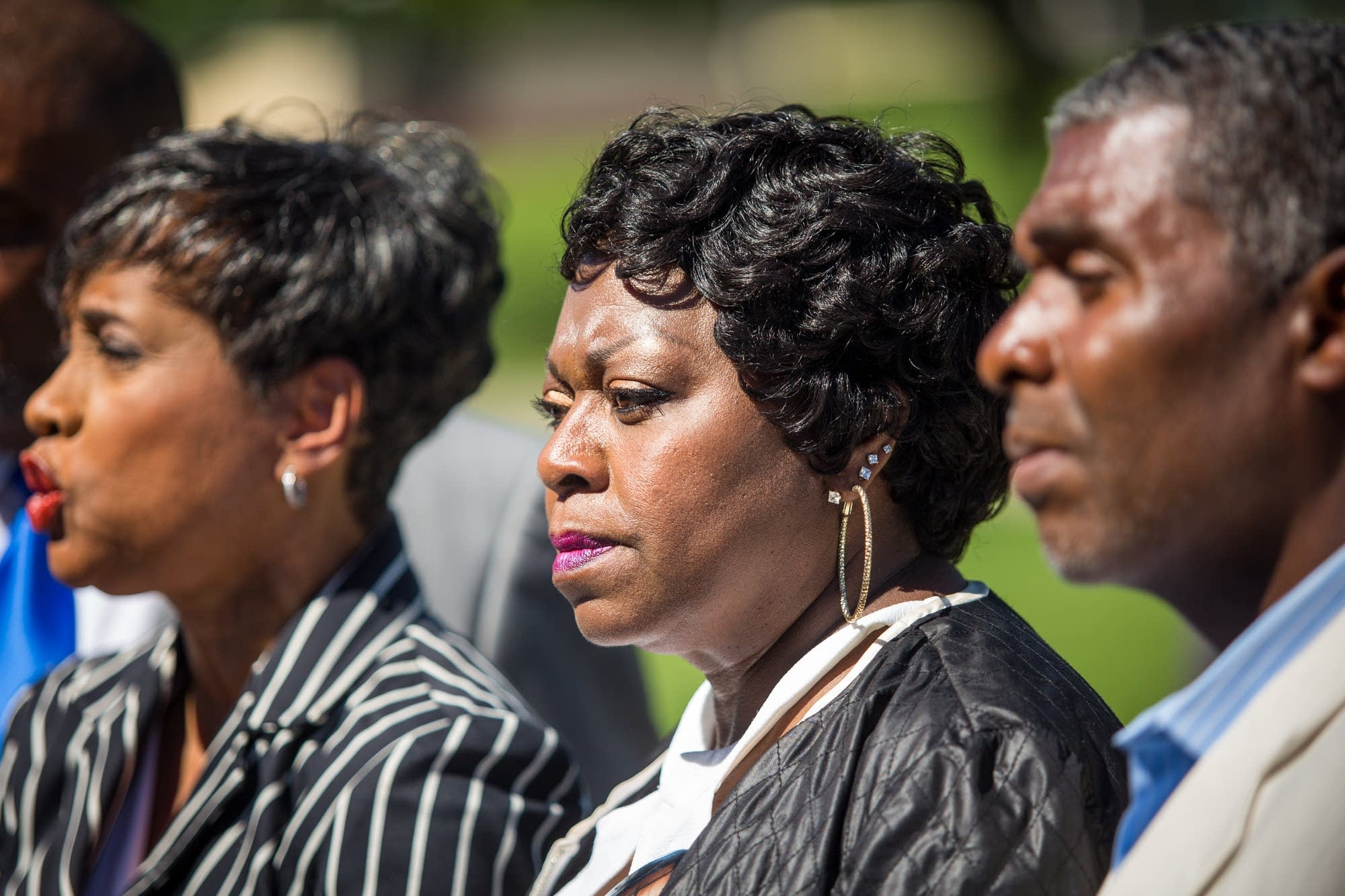Valerie Castile at a press conference on Tuesday.