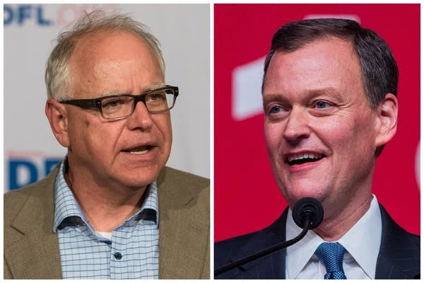 Democrat Tim Walz (left) and Republican Jeff Johnson (right)