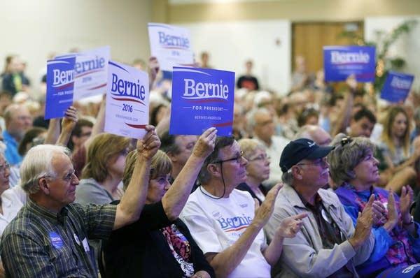 Bernie Sanders' supporters applauded.