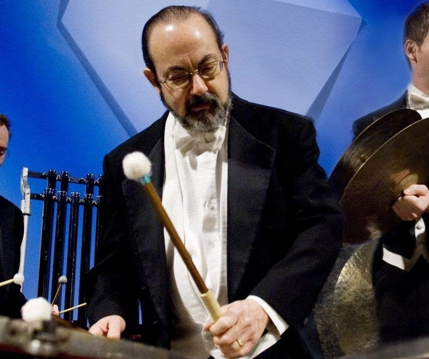 Peter Kogan plays timps at Orchestra Hall
