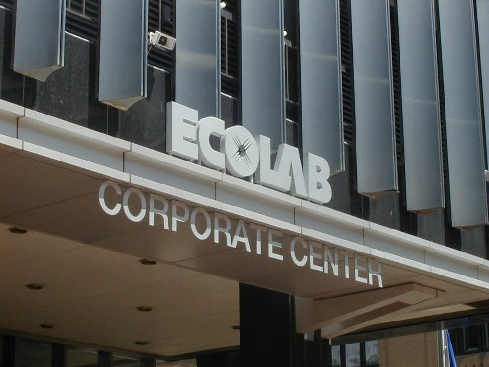 Ecolab corporate HQ sign